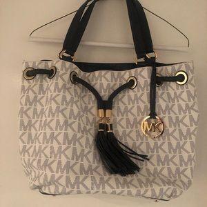 Michael Kors - Blue and White Logo Bag